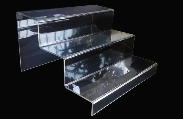 3 Step Acrylic Countertop Step Display Shelf Risers