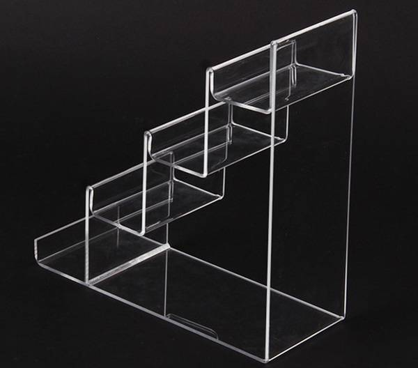 4-tier Clear Acrylic Wallet Display Stand Holder Purse Display Stand XH00219-3