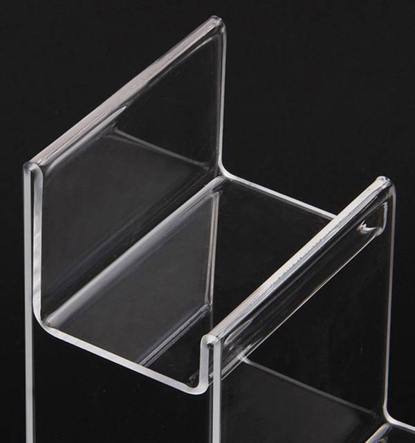4-tier Clear Acrylic Wallet Display Stand Holder Purse Display Stand XH00219-4