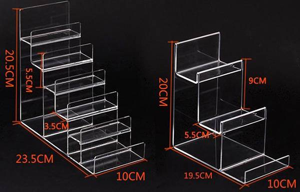4-tier Clear Acrylic Wallet Display Stand Holder Purse Display Stand XH00219-5