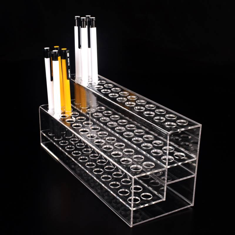 48 Pen 2 Tier Clear Acrylic Display Stand Marketing Holders