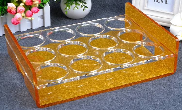 6 Round 2 Rows Acrylic Whiskey Spirits Wineglass Holder XH02-5