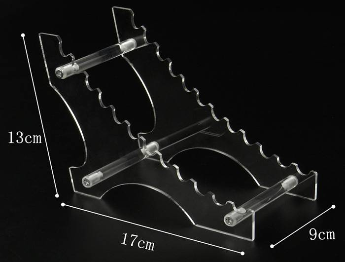 8/12 Layers Clear Acrylic Display Stand for Pen
