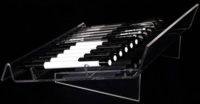 Acrylic 12-Slots Pen Premium U Shaped Display Stand XH60-2