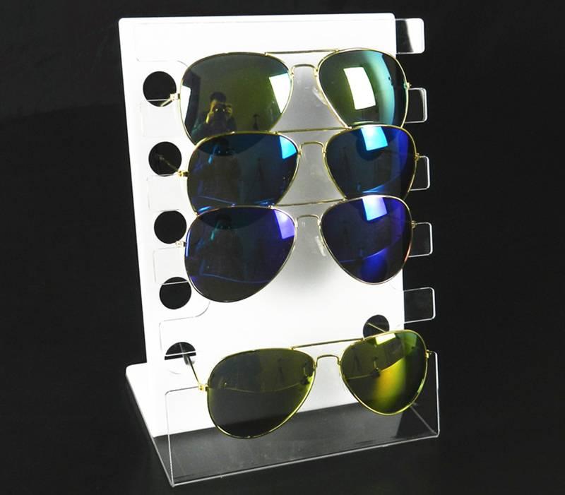 Acrylic 5 Tier L-type Eyewear Display Free Standing Eyeglass Rack
