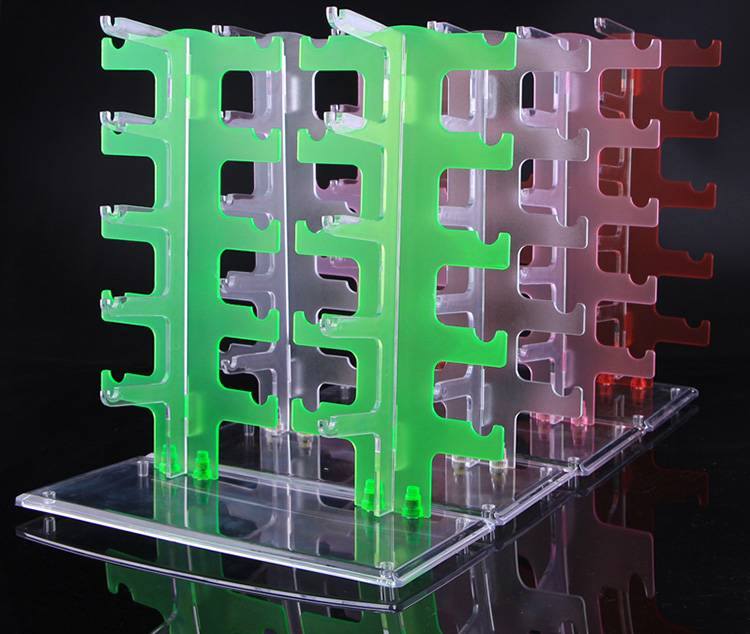 Acrylic Crystal Clear Display Retail Show Glasses Display Stand (10 Pairs)