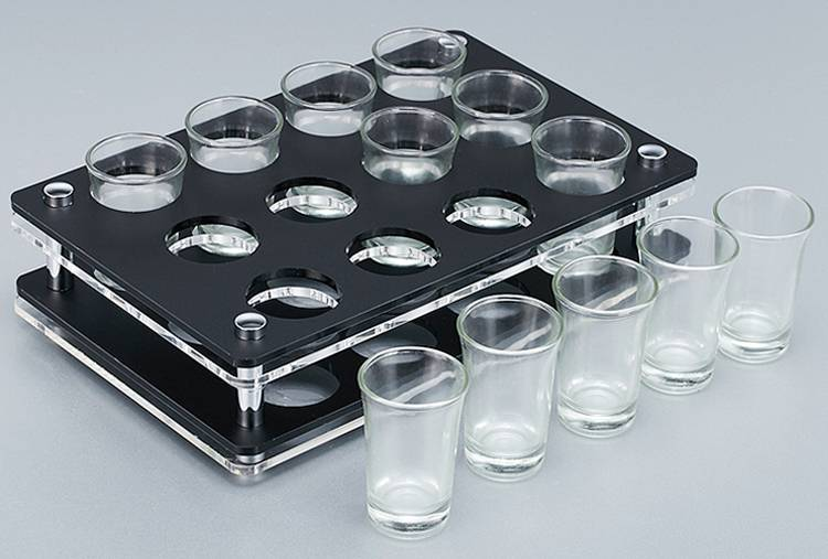 Acrylic Cup Holder Wine Glass Cup Holder Tray XH55-1