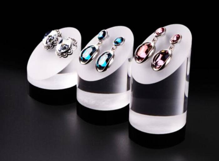 Acrylic Fingers Ring Display Jewelry Riser Unit XH24-4