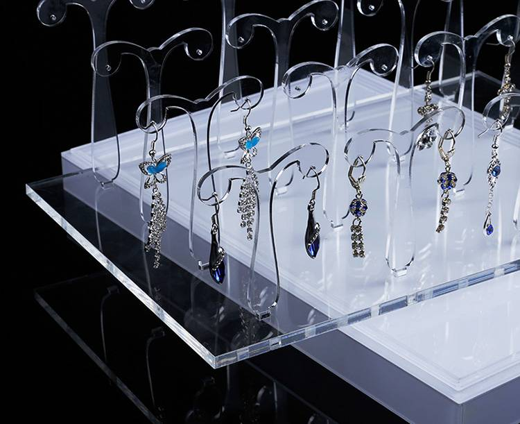 Acrylic Plexiglass Earring Jewelry Stand Countertop Display XH0057-1