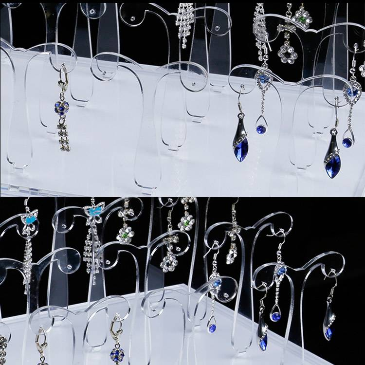 Acrylic Plexiglass Earring Jewelry Stand Countertop Display XH0057-2