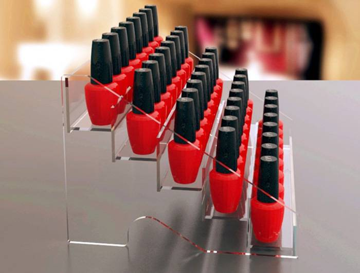 Clear 5 Layers Acrylic Lipstick and Nail Polish Organizer