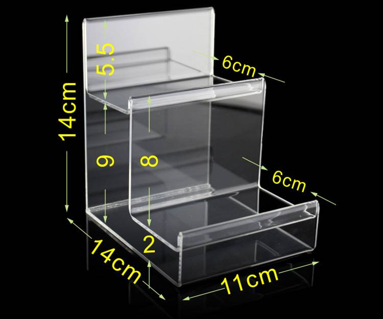 Clear Acrylic 2-tier Wallet Display Stand Holder
