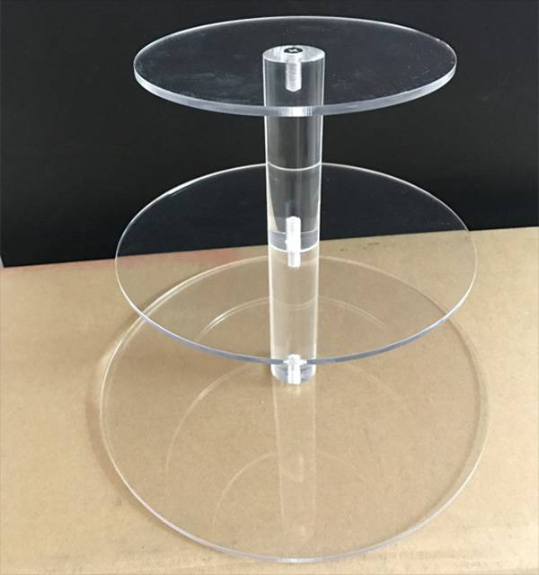 Clear Acrylic 4 Tier Round Cupcake/ Cake/ Dessert Display
