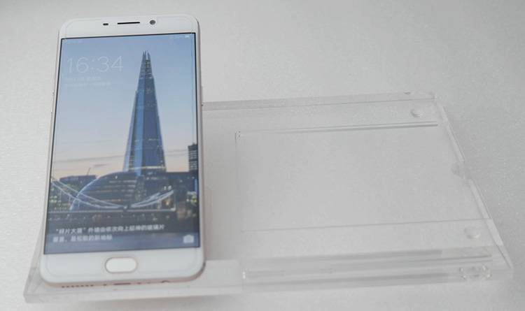 Clear Acrylic Mobile Phone Display Stand with Display Base XH00240-1