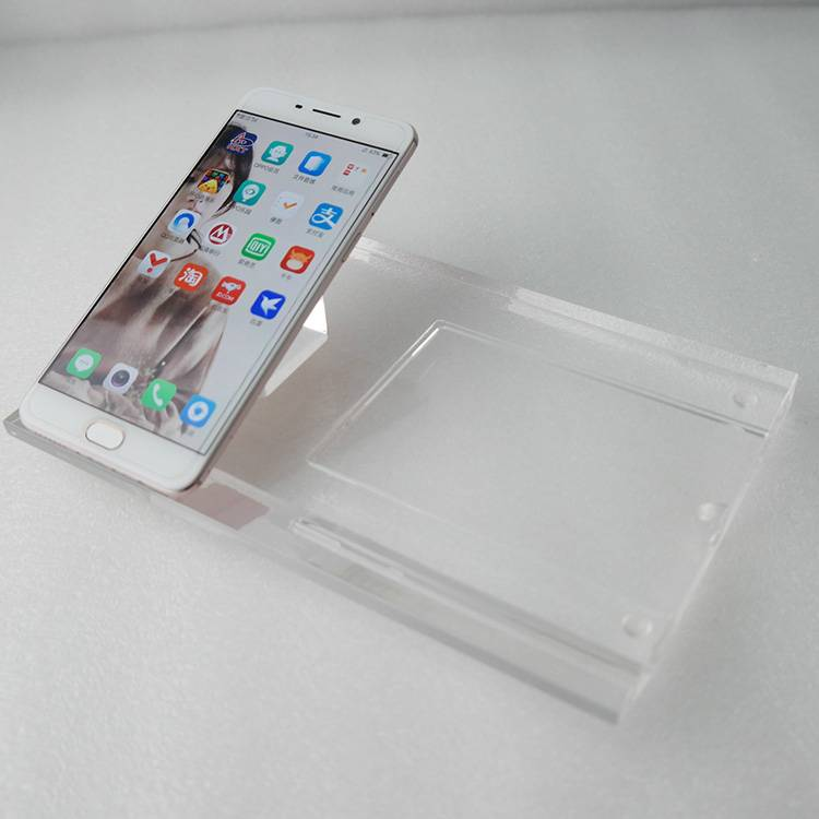 Clear Acrylic Mobile Phone Display Stand with Display Base