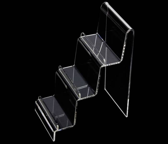 Clear Acrylic Wallet Purse Mobile Phone Display Stand Card Holder Rack 3 Layers XH0124-2