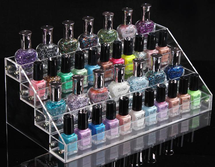 Clear Lipstick and Makeup Organizer Counter Display XH65-2
