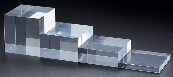 Clear Polished Acrylic Rectangular Display Block XH00212-2