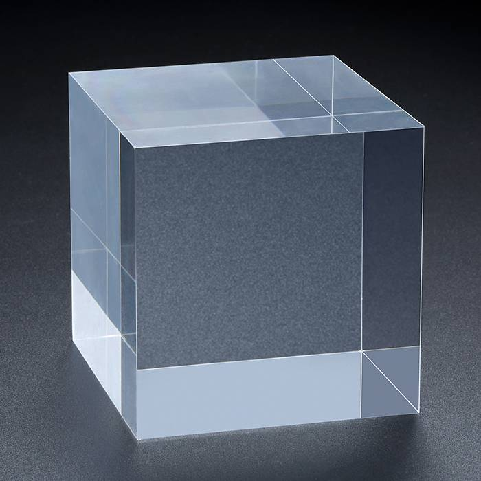 Clear Polished Acrylic Rectangular Display Block