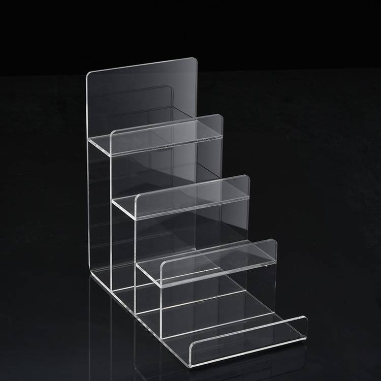 Clear 2/3/4/5/6 Tier Retail Acrylic Display Holder Rack for Purse Wallet Display