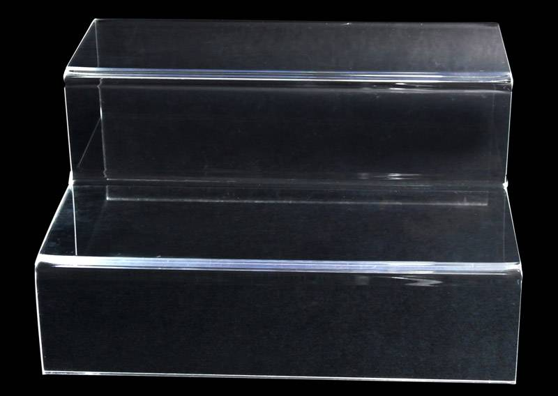 Counter Top 2 Tier Acrylic Holder Display Nesting Plinths Shelf Riser