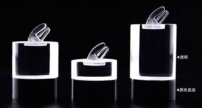 Cuboid / Cylinder Acrylic Ring Display Stand Holder