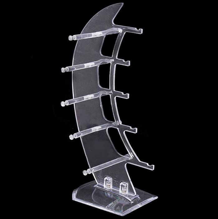 Desktop 5 Tier Clear Acrylic Sunglasses Eyeglasses Display Stand Holder