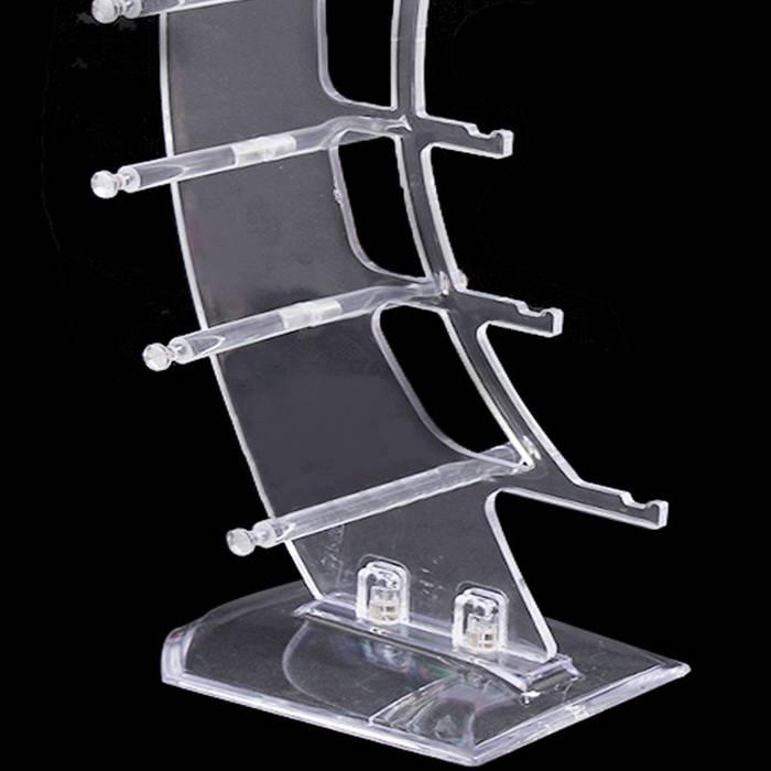 Desktop 5 Tier Clear Acrylic Sunglasses Eyeglasses Display Stand Holder XH43-3