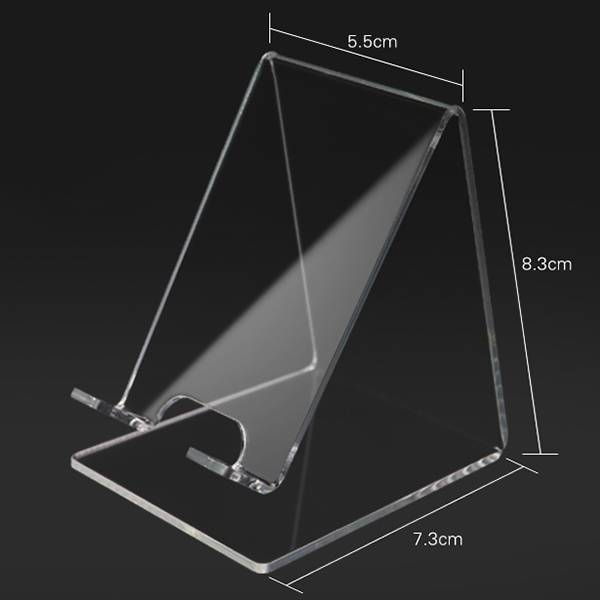 Desktop Clear Acrylic Mount Holder Display Stand For Cell Phone