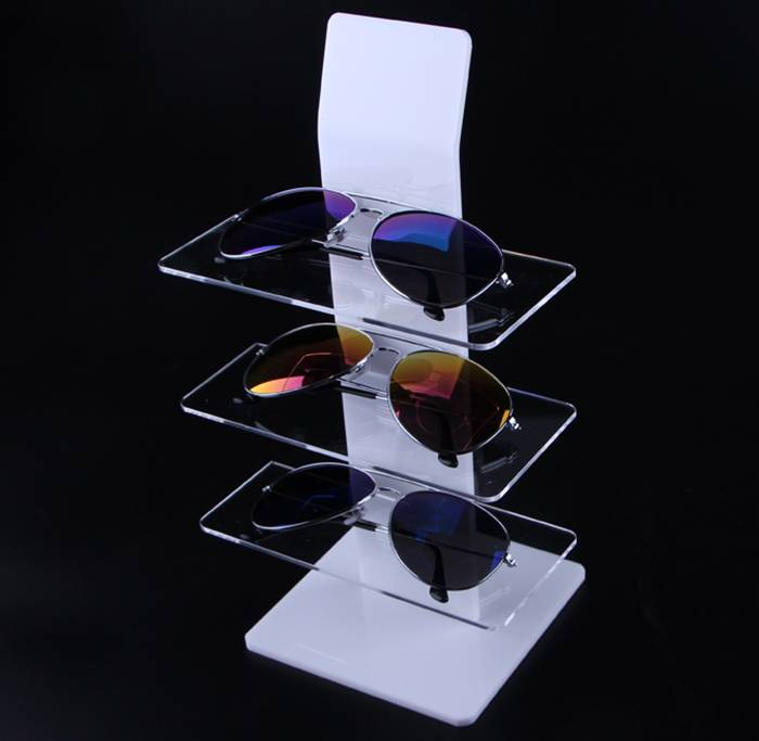 Eyewear Shop 3-Layer Clear Acrylic Sunglasses Display Rack
