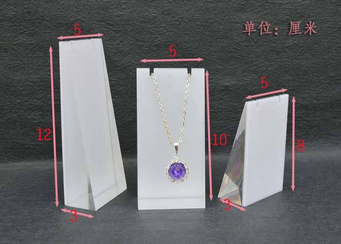 Frosted Acrylic Block Necklace Display Stand Matte Acrylic Jewelry Set XH0038-2