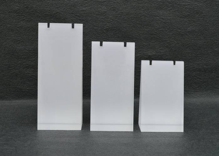 Frosted Acrylic Block Necklace Display Stand Matte Acrylic Jewelry Set
