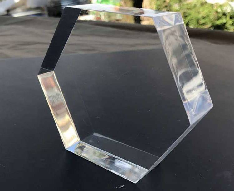 Hexagon Shape Counter Solid Acrylic Display Block Retail Jewellery Display XH0139-1