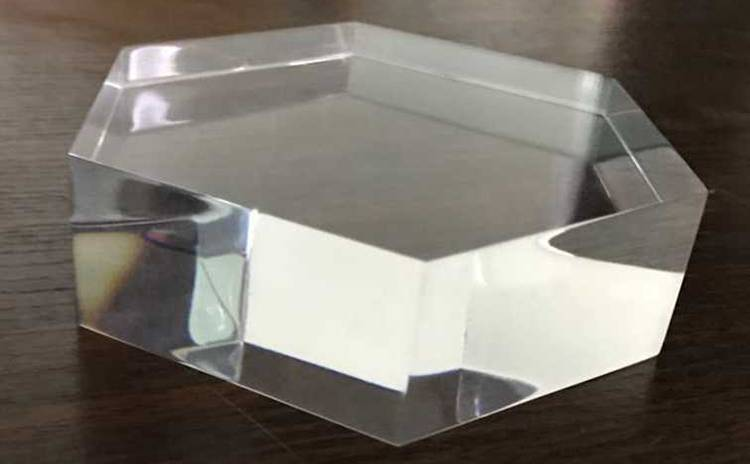 Hexagon Shape Counter Solid Acrylic Display Block Retail Jewellery Display XH0139-2