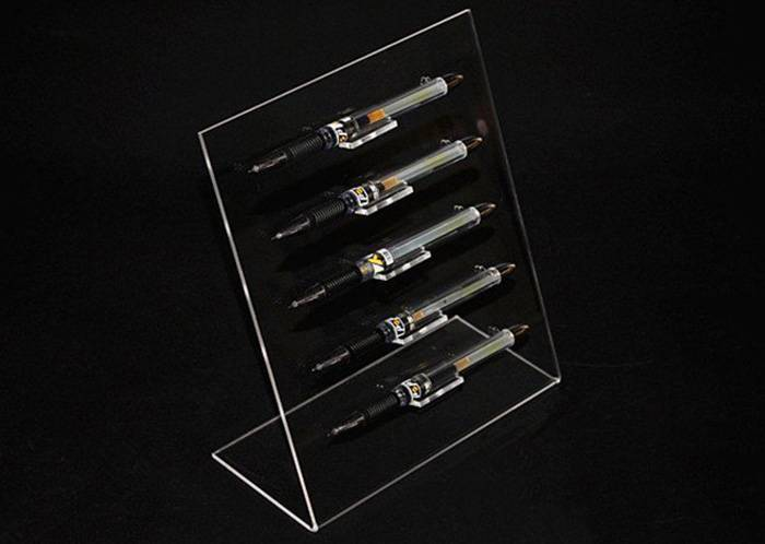 L-Shaped 5-Slots Premium Clear Acrylic Pen For Home, Office Or Store Usage