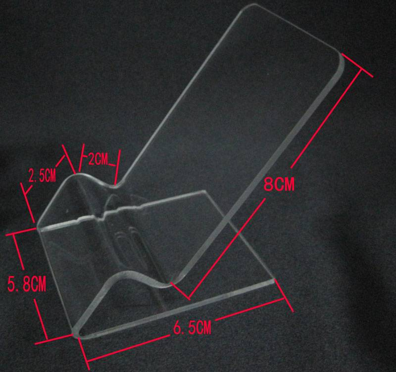 Mobile Cell Phone Clear Acrylic Display Stand Mount Holder XH0104-3