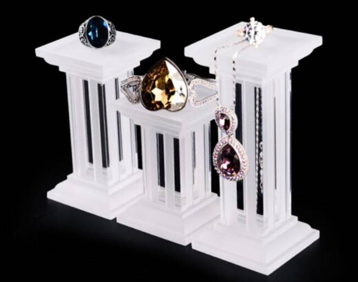 Multi Function Square Base Acrylic Display Stand for Jewelry Display XH26-3