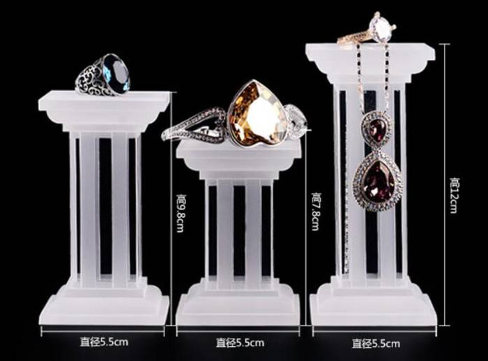 Multi Function Square Base Acrylic Display Stand for Jewelry Display XH26-6