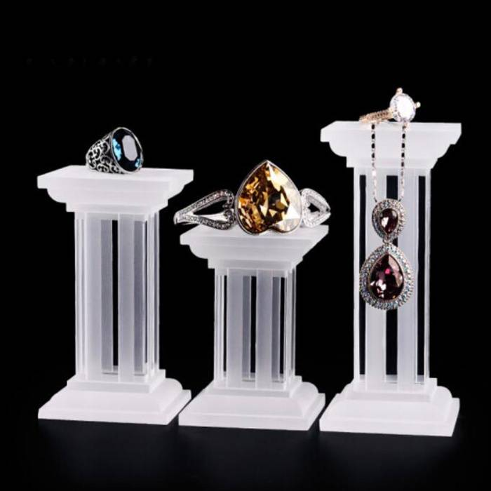 Multi Function Square Base Acrylic Display Stand for Jewelry Display