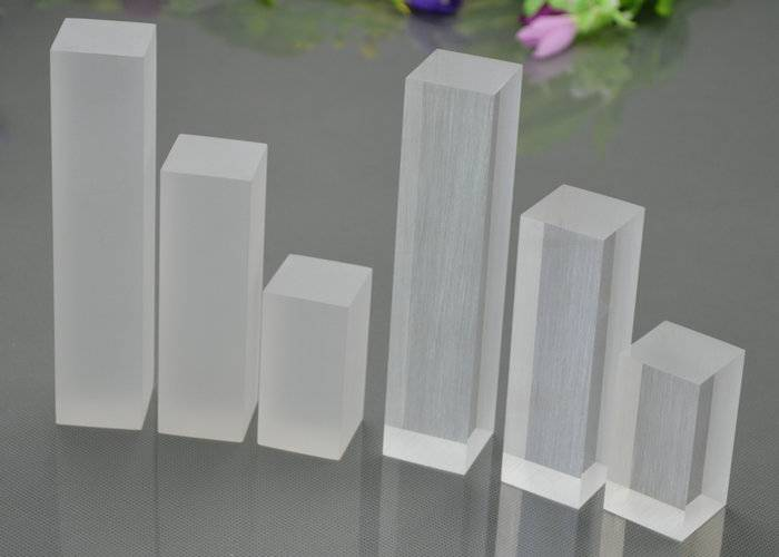 Polished Acrylic Solid Block Risers, Rectangle Plexiglass Solid Cube Display Stands, Jewelry Display Block Holder XH0007-8
