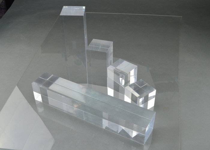 Polished Acrylic Solid Block Risers, Rectangle Plexiglass Solid Cube Display Stands, Jewelry Display Block Holder
