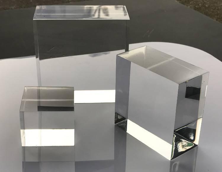 Portable Acrylic Riser Stand Solid Acrylic Riser Block XH0146-2