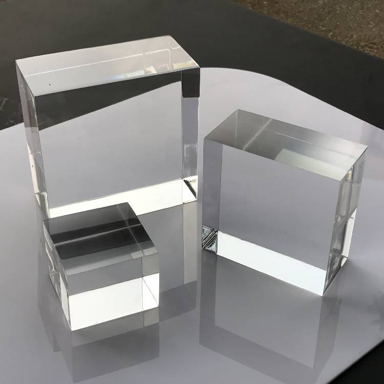 Portable Acrylic Riser Stand Solid Acrylic Riser Block