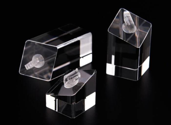 Square Base Acrylic Ring Display Holder for Ring Jewelry Display XH27-3