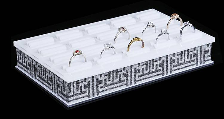Square Shape Acrylic Jewelry Display Platform Ring Display Shelf XH0058-4