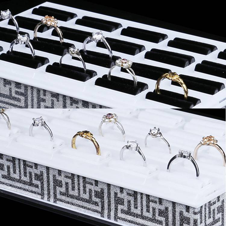 Square Shape Acrylic Jewelry Display Platform Ring Display Shelf XH0058-5