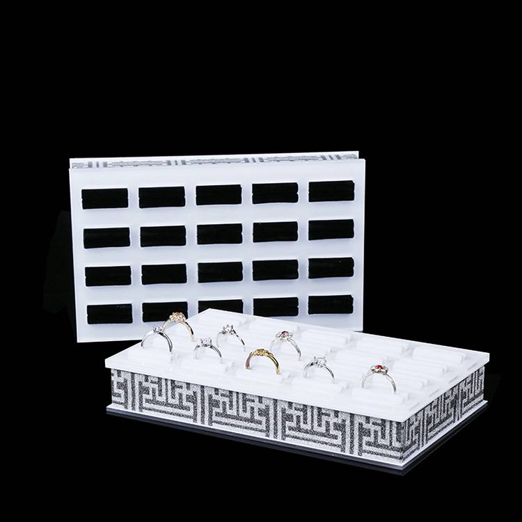 Square Shape Acrylic Jewelry Display Platform Ring Display Shelf