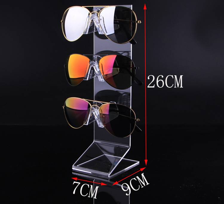 Sunglasses Glasses Acrylic Crystal Clear Display Retail Show Stand Holder Rack