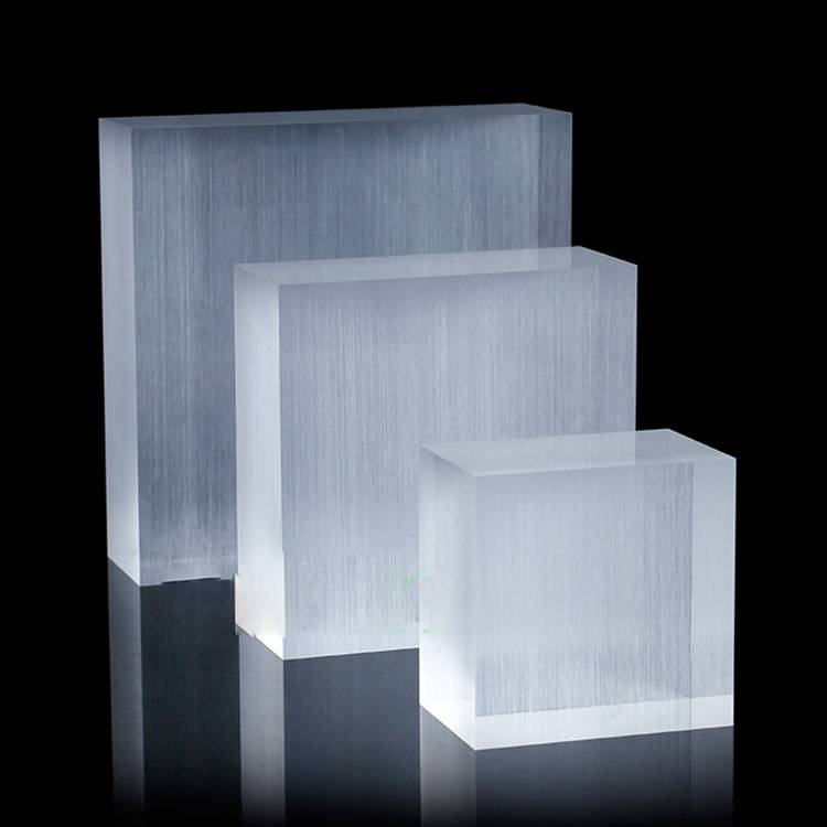 Thick Brushed Solid Acrylic Plexiglass Display Blocks