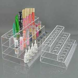 Three Layer Acrylic Make-up Lipstick Eyebrow Pen Holder Electronic Cigarette Display Stand